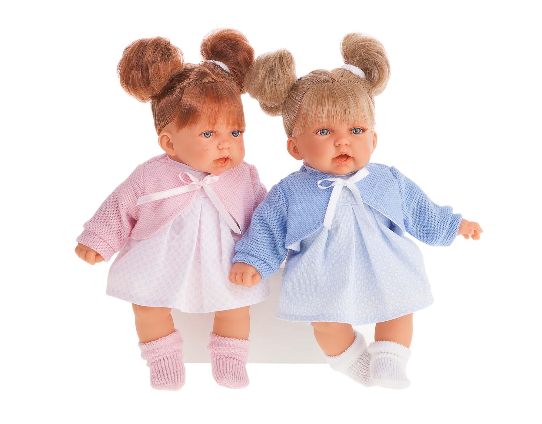 Купить Интерактивная кукла - Дели в голубом, 27 см, Antonio Juans Munecas