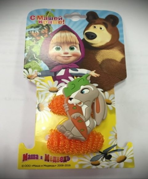 Набор резинок для волос из серии Маша и Медведь – Заяц, 2 шт.