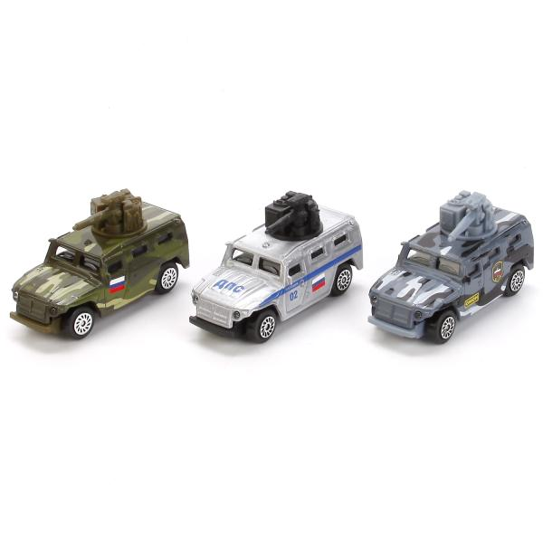 Машина металлическая Газ Тигр, 7,5 см., в дисплее, несколько цветовРусские машины<br>Машина металлическая Газ Тигр, 7,5 см., в дисплее, несколько цветов<br>