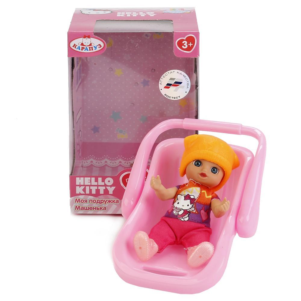 Купить Кукла Hello Kitty - Моя подружка Машенька, 12 см с переноской и аксессуарами, Карапуз