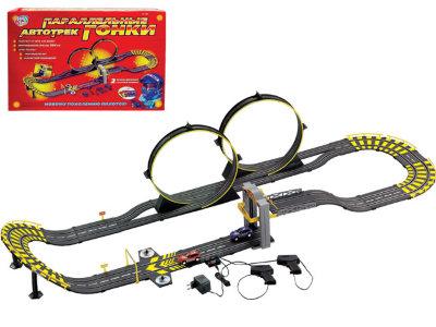 Трек Joy Toy 0820 от сети 220v с машинками и аксессуарами, длина полотна 584 см., Play Smart  - купить со скидкой