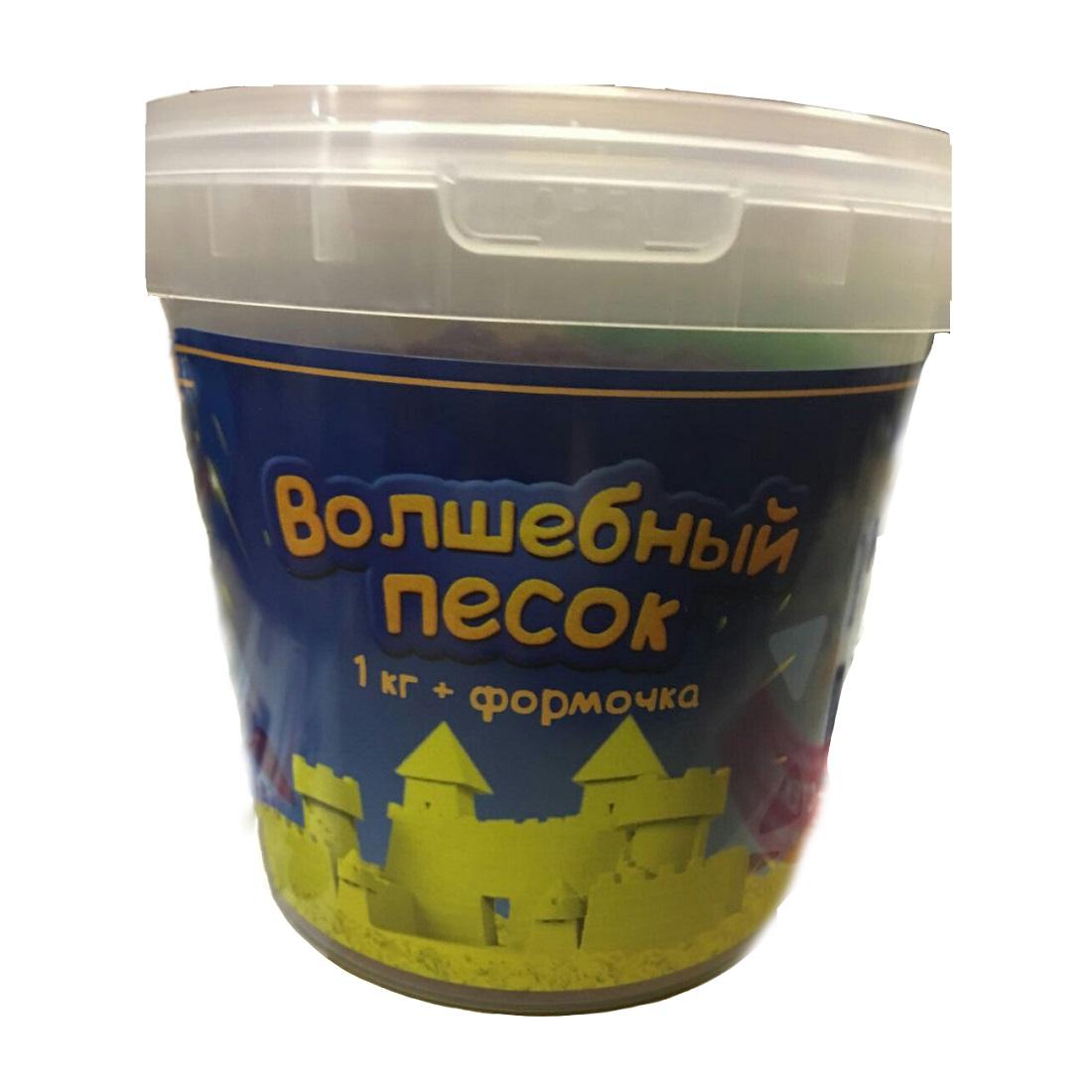 Купить Волшебный песок с формочкой, 1 кг., цвет – желтый, Авис