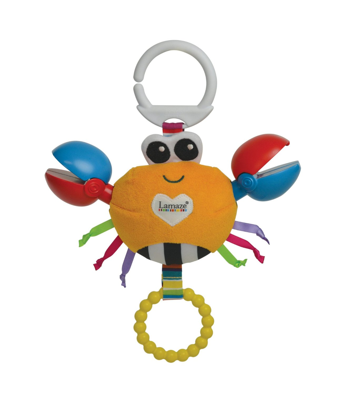 Игрушка-подвеска - Крабик КлодРазвивающая дуга. Игрушки на коляску и кроватку<br>Игрушка-подвеска - Крабик Клод<br>