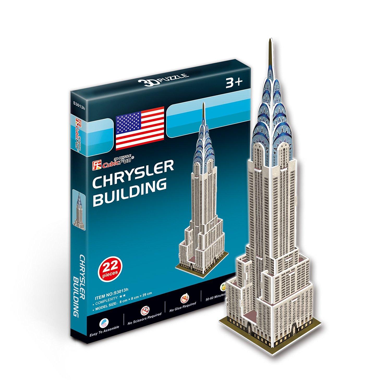 Купить Объемный 3D-пазл Небоскреб Крайслер-билдинг, США, мини серия, Cubic Fun