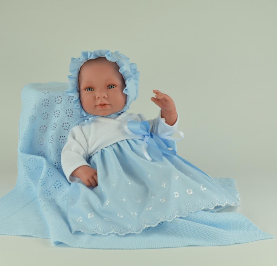 Кукла Соня с голубым пледом, 50 см.Куклы ASI (Испания)<br>Кукла Соня с голубым пледом, 50 см.<br>