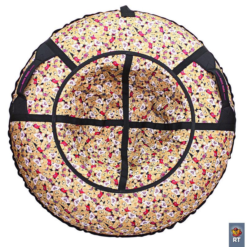 Купить Санки надувные тюбинг RT Медвежата с красными флажками, диаметр 118 см., Snow Show