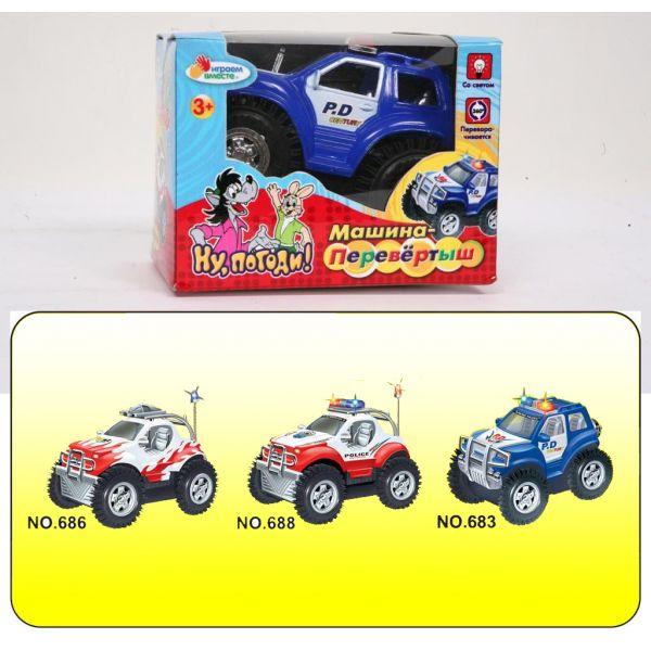 Машина-перевертыш «Полиция патруль» на батарейкахМашинки для малышей<br>Машина-перевертыш «Полиция патруль» на батарейках<br>