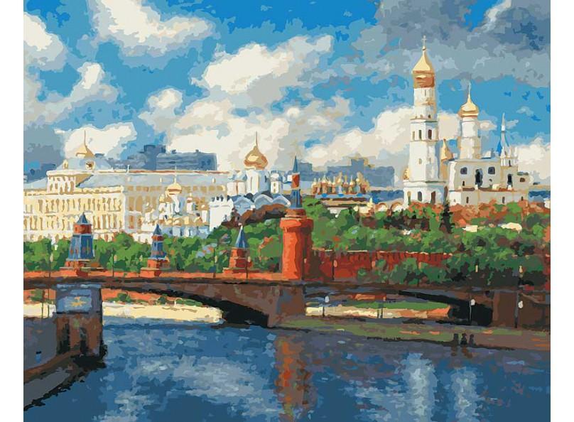 Купить Раскраски по номерам - Картина «Московский Кремль», Белоснежка