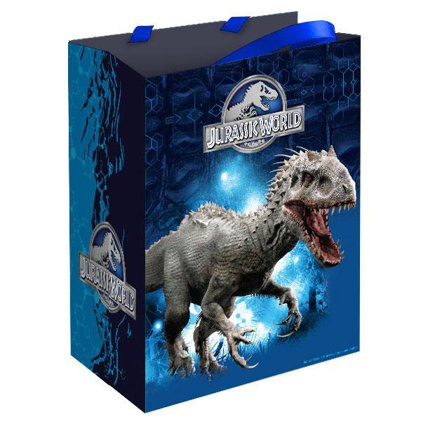 Пакет подарочный Мир Юрского периода, синийПодарочные пакеты<br>Пакет подарочный Мир Юрского периода, синий<br>
