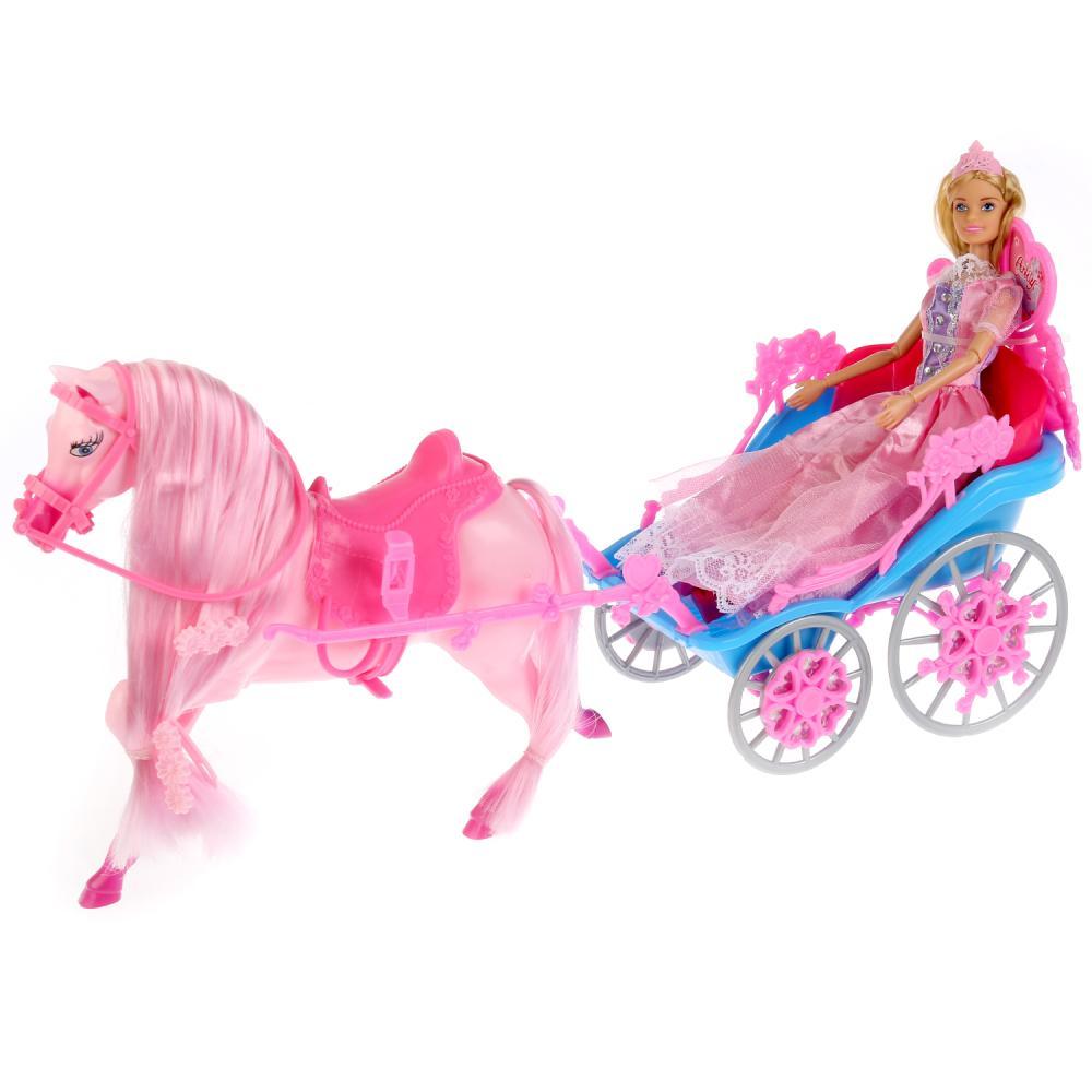 Купить Кукла София принцесса, 29 см., с лошадью, каретой и аксессуарами, Карапуз