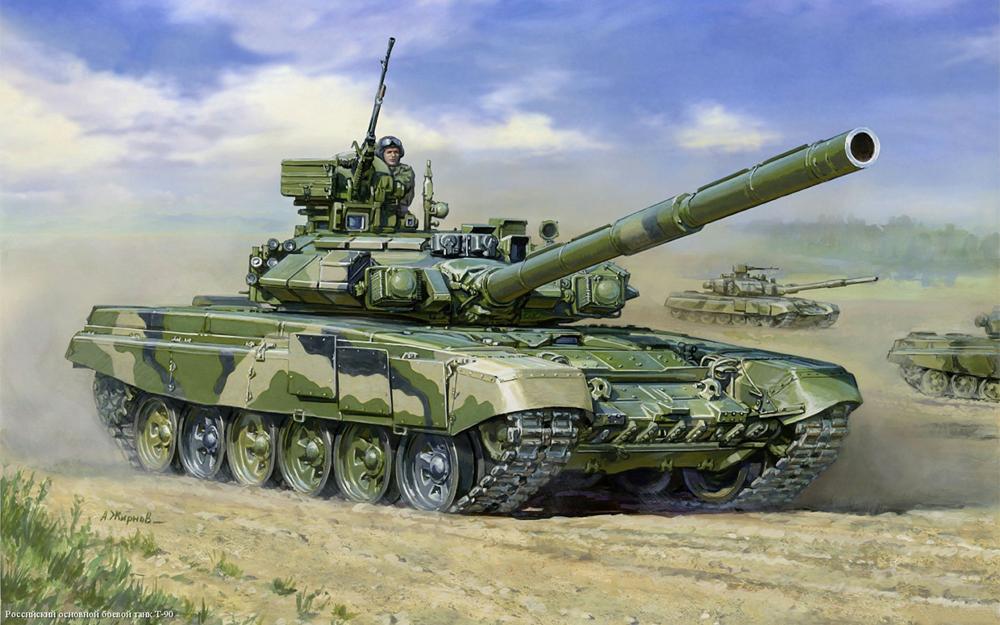 Подарочный набор - Модель для склеивания -Танк Т-90Модели танков для склеивания<br>Подарочный набор - Модель для склеивания -Танк Т-90<br>