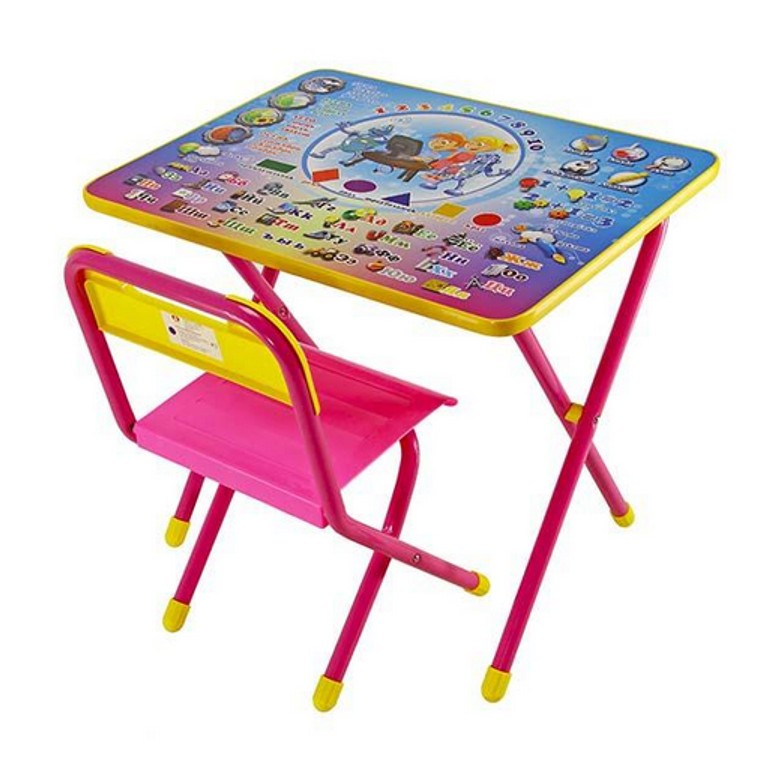 Набор детской мебели №1 Электроник, розовый Э)Игровые столы и стулья<br>Набор детской мебели №1 Электроник, розовый Э)<br>