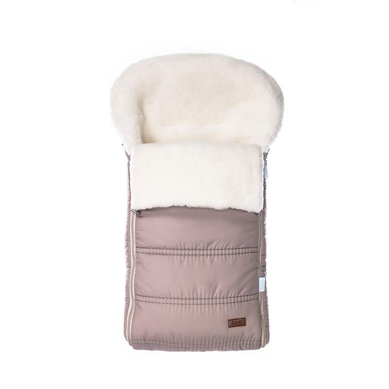 Конверт зимний меховой Nuovita Alpino Bianco Beige/Бежевый по цене 4 999