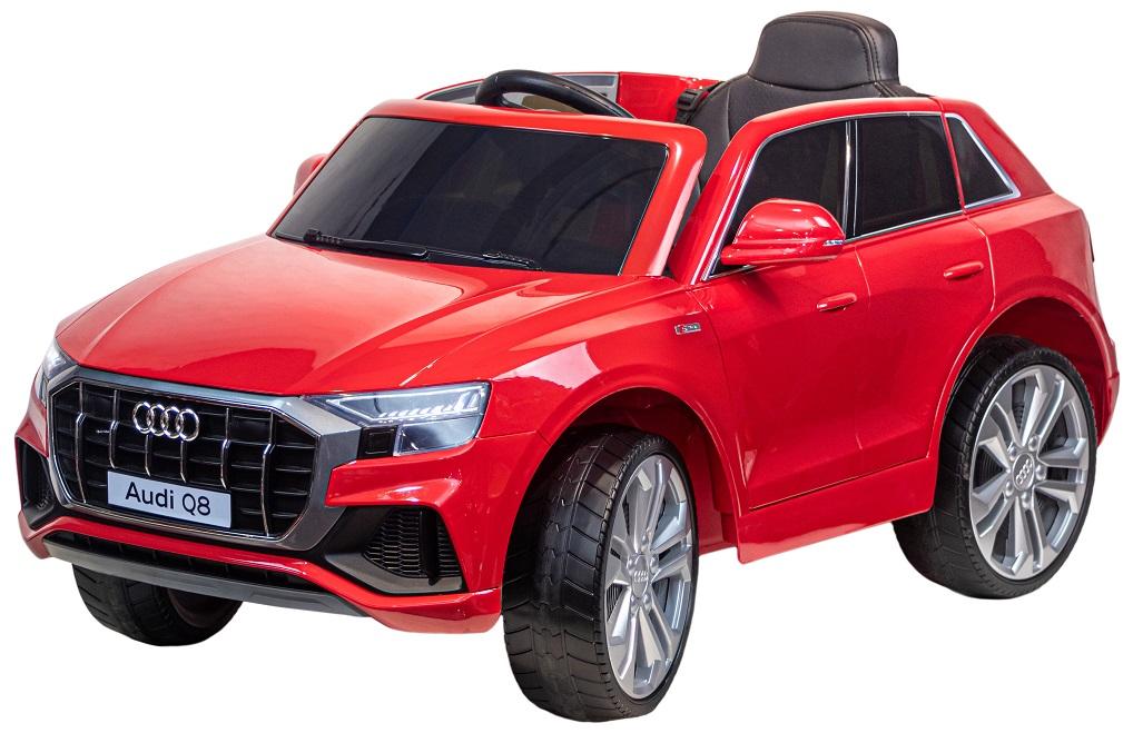 Электромобиль джип Audi Q8, красный