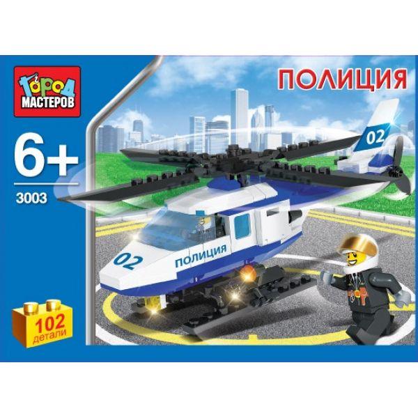 Конструктор – «Полицейский вертолет», 102 деталейГород мастеров<br>Конструктор – «Полицейский вертолет», 102 деталей<br>