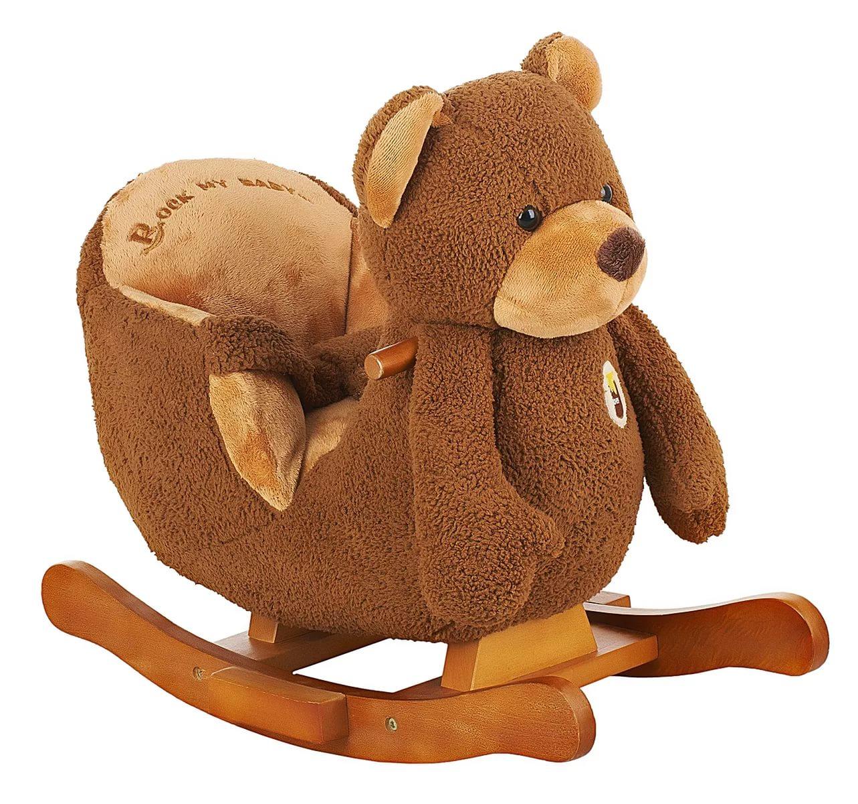 Меховая качалка со звуковыми эффектами. МедведьДетские кресла-качалки<br>Меховая качалка со звуковыми эффектами. Медведь<br>