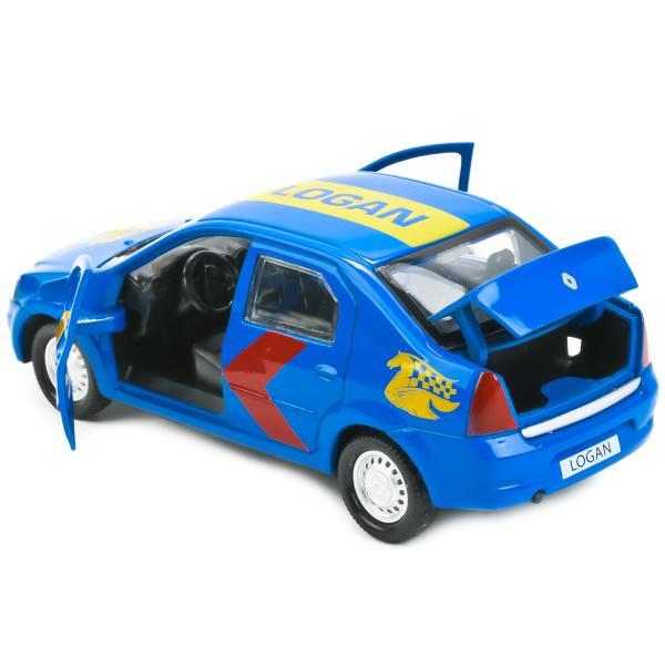 Металлическая инерционная машина - Renault Logan, 12 смRenault<br>Металлическая инерционная машина - Renault Logan, 12 см<br>
