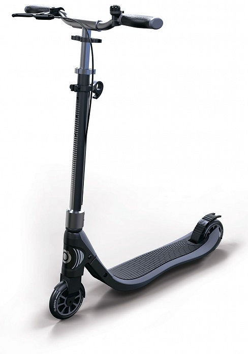 Купить Двухколесный самокат Globber One NL 125 Delux, черно-серый