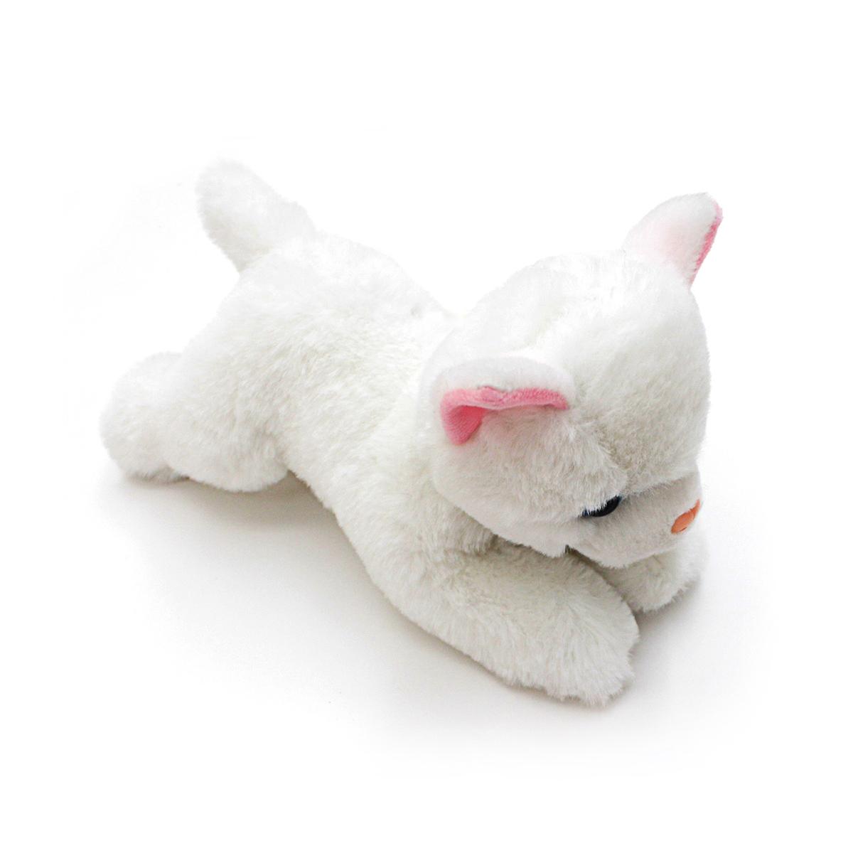 Мягкая игрушка – Котенок белый, 23 см