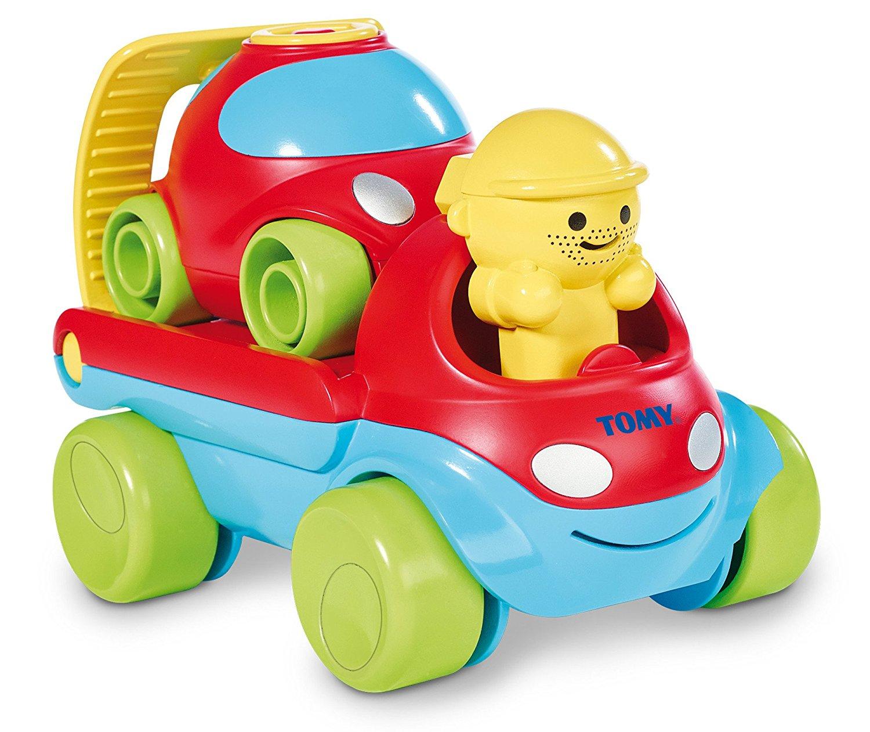 Заводная игрушка - Весёлая машинка с эвакуатором из серии Заводи и гоняйМашинки для малышей<br>Заводная игрушка - Весёлая машинка с эвакуатором из серии Заводи и гоняй<br>