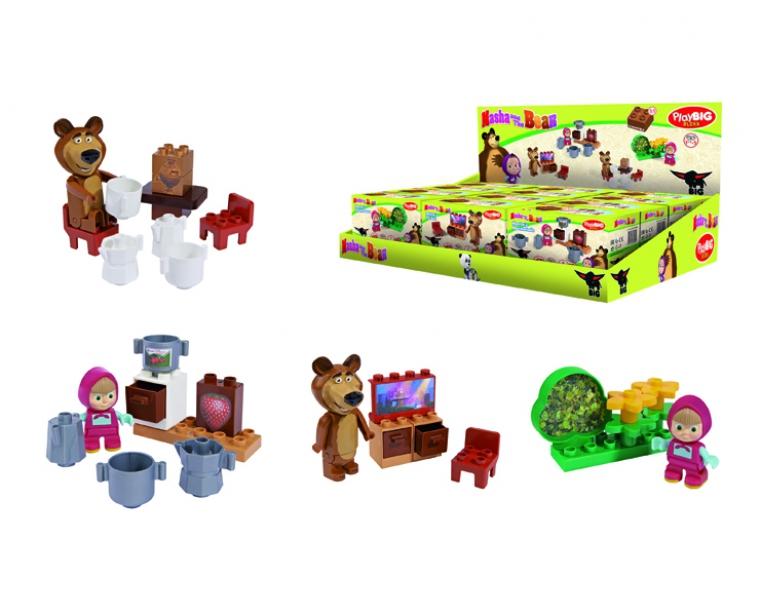 Конструктор Маша и Медведь - стартовый набор, 4 видаМаша и медведь игрушки<br>Конструктор Маша и Медведь - стартовый набор, 4 вида<br>