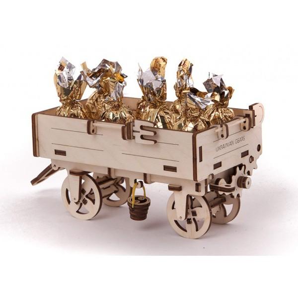 Прицеп к трактору - Деревянный конструктор, артикул: 157079
