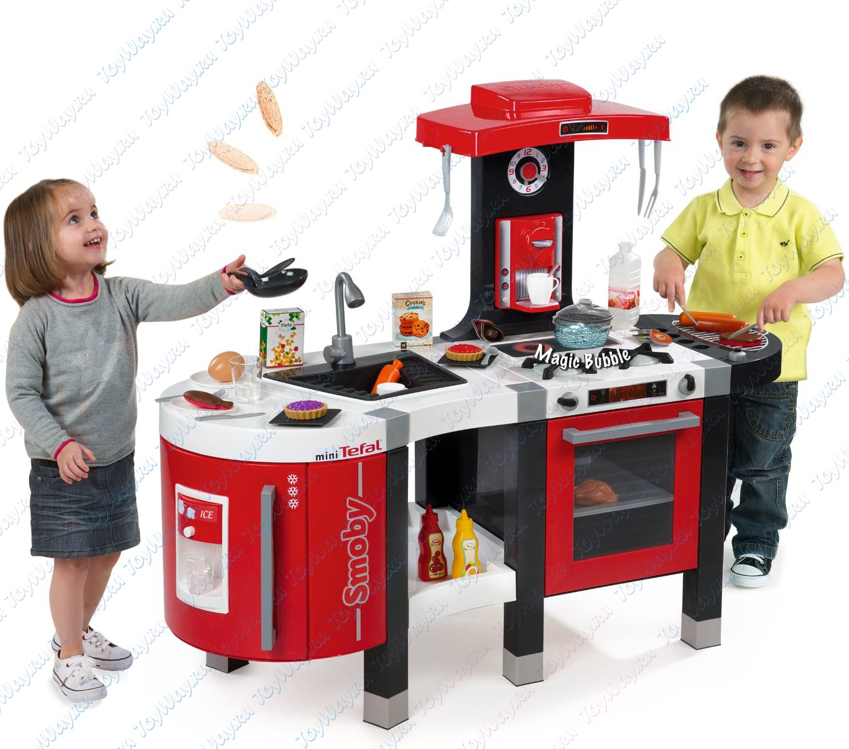 Детская кухня Tefal Французское прикосновение French Touch с водой + подарок тостер TefalДетские игровые кухни<br>Детская кухня Tefal Французское прикосновение French Touch с водой + подарок тостер Tefal<br>
