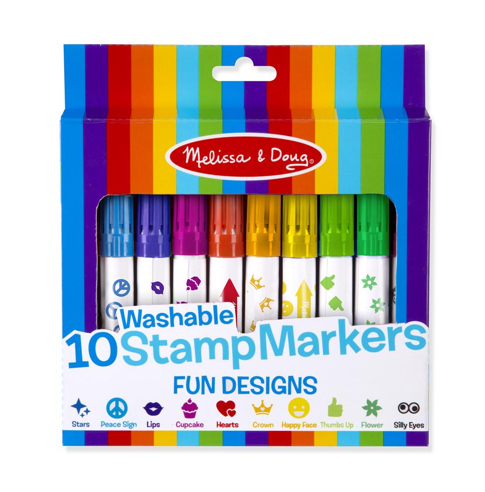 Купить Набор фломастеров-штампов - Предметы из серии Творчество, Melissa&Doug