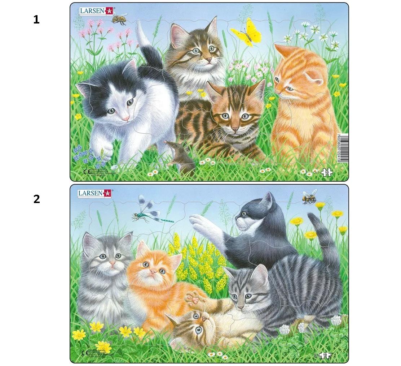 Пазл – Котята, 2 варианта, 10 деталейПазлы для малышей<br>Пазл – Котята, 2 варианта, 10 деталей<br>