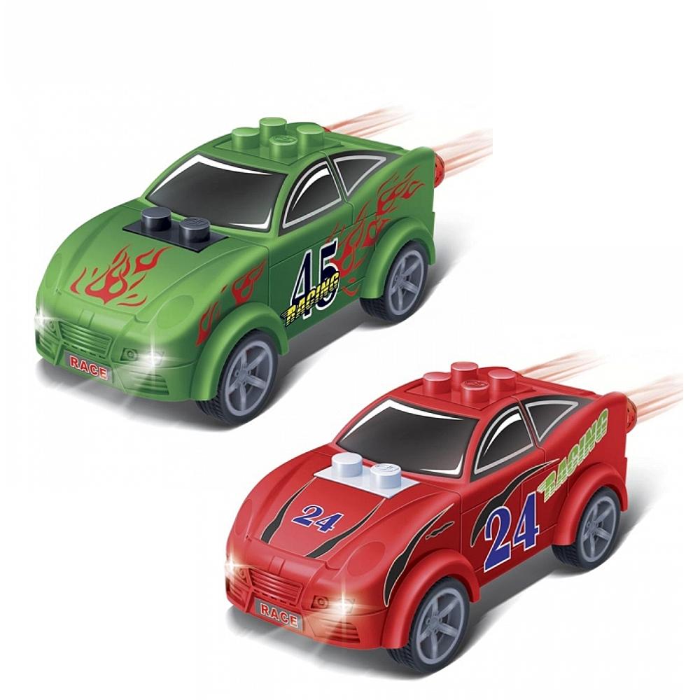 Конструктор - Инерционная машина, красная/зеленая, 23 деталиКонструкторы BANBAO<br>Конструктор - Инерционная машина, красная/зеленая, 23 детали<br>