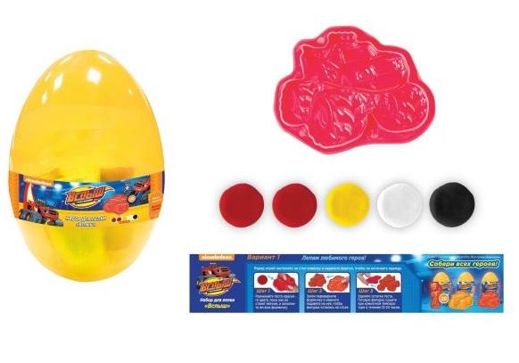 Купить Набор для лепки из серии Вспыш, упаковка – пластиковое яйцо, Росмэн