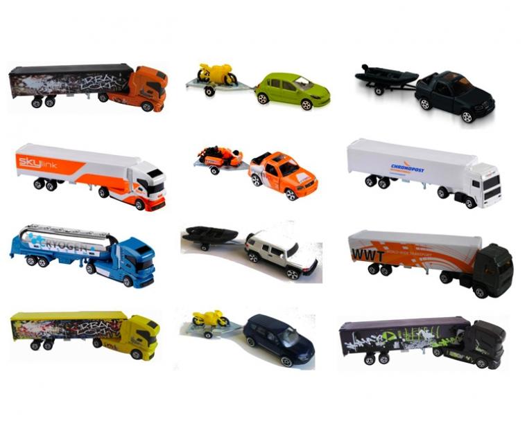 Коллекционный автомобиль, 9 видов, 13 см.Грузовики/самосвалы<br>Коллекционный автомобиль, 9 видов, 13 см.<br>