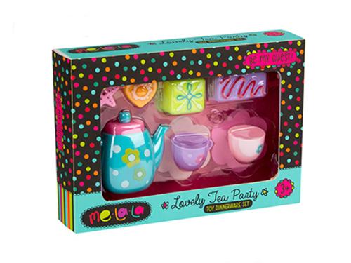 Набор посудки MeLaLa Чаепитие со сладостямиАксессуары и техника для детской кухни<br>Набор посудки MeLaLa Чаепитие со сладостями<br>