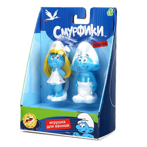Набор из 2-х игрушек для купания «Смурфики»Игрушки для ванной<br>Набор из 2-х игрушек для купания «Смурфики»<br>
