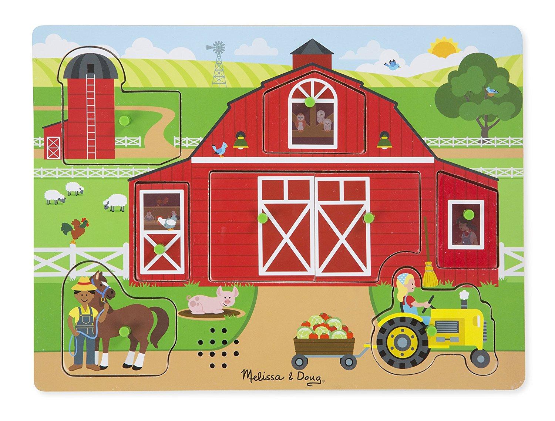 Купить Пазл со звуком – Ферма, 7 элементов, Melissa&Doug