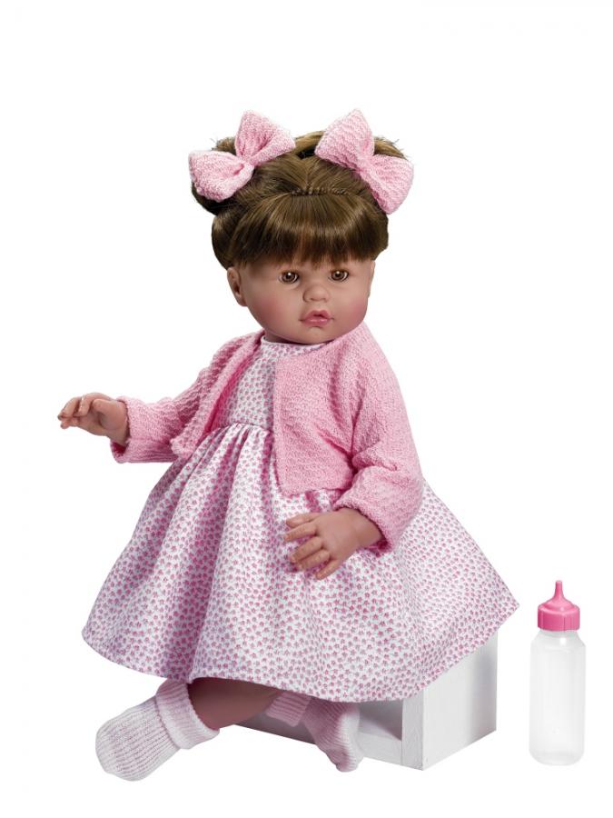 Кукла Хлоя в розовом платье, 45 см.Куклы ASI (Испания)<br>Кукла Хлоя в розовом платье, 45 см.<br>