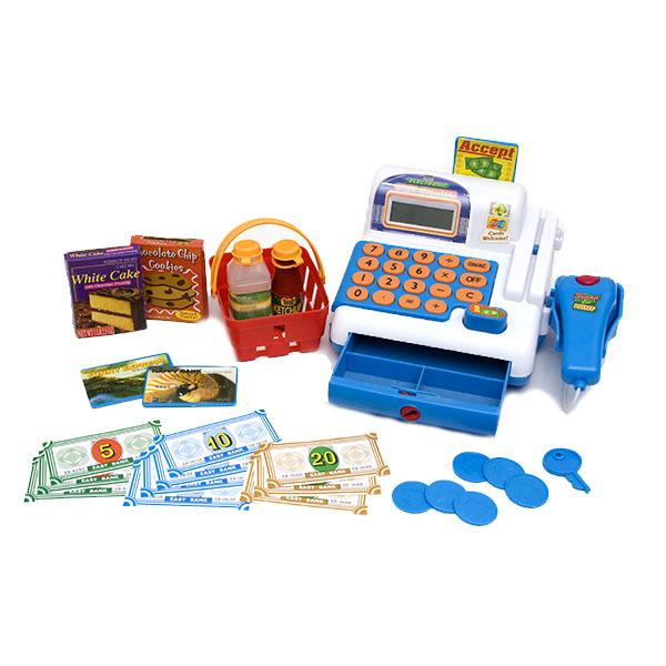 Игровая касса-калькулятор со сканеромДетская игрушка Касса. Магазин. Супермаркет<br>Игровая касса-калькулятор со сканером<br>