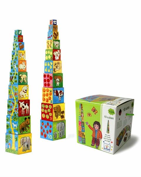Кубики-пирамида Мои друзья - 10 элементовСортеры, пирамидки<br>Кубики-пирамида Мои друзья - 10 элементов<br>