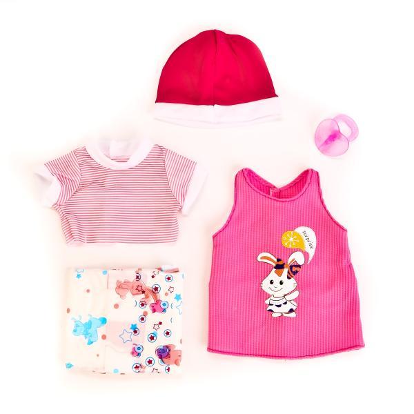 Одежда для кукол – Кофточки с шапочкой, соской и памперсами, в пакетеОдежда для кукол<br>Одежда для кукол – Кофточки с шапочкой, соской и памперсами, в пакете<br>