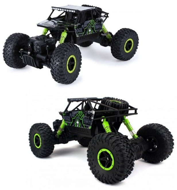 Машина на радиоуправлении - Монстр Трак, 1:18, зеленый/черныйМашины на р/у<br>Машина на радиоуправлении - Монстр Трак, 1:18, зеленый/черный<br>