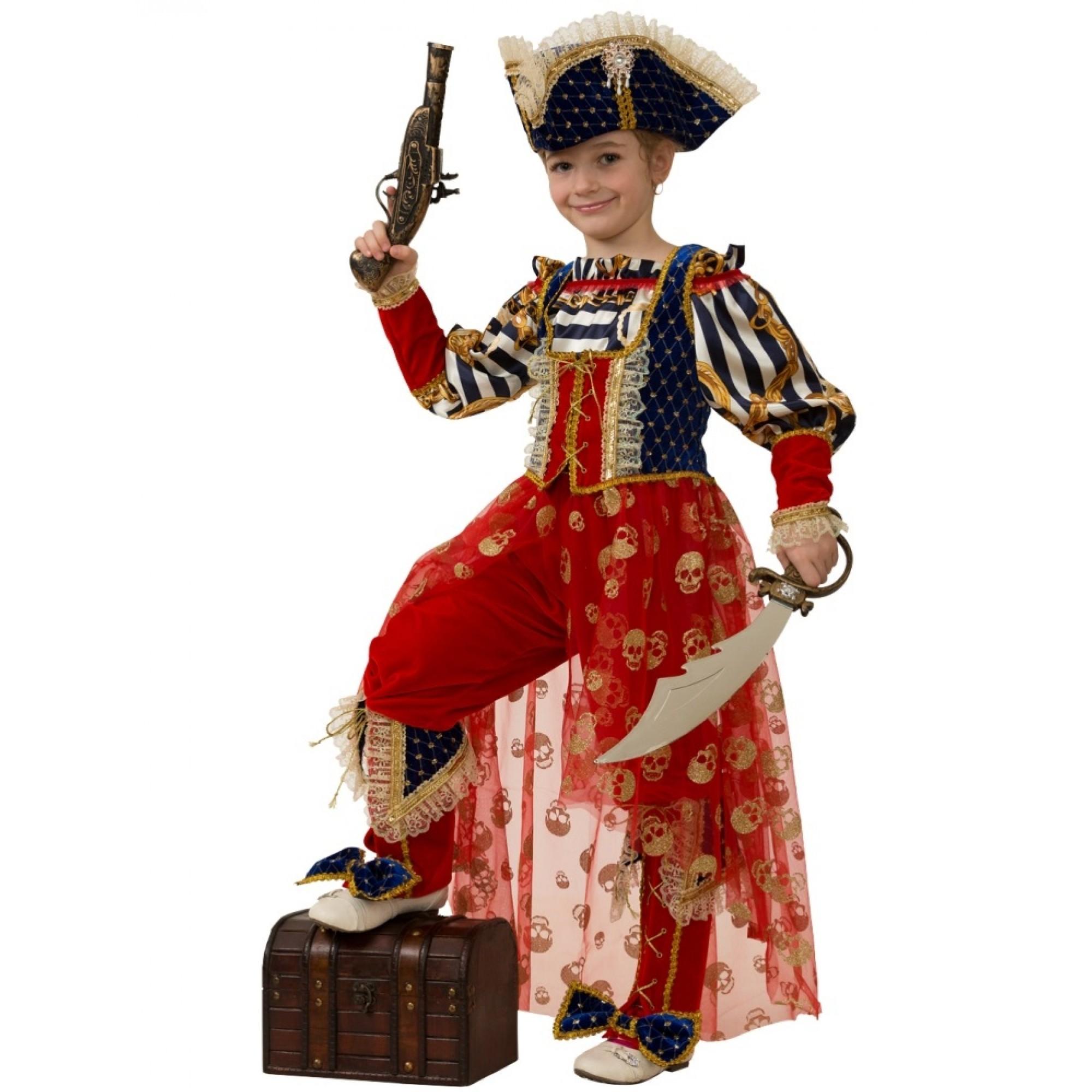 Костюм Бал-маскарад - Пиратка Морская, размер 116 Батик