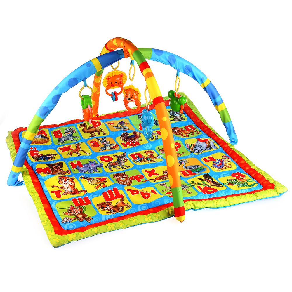 Купить Коврик детский - Азбука животных с игрушками на подвеске, Умка