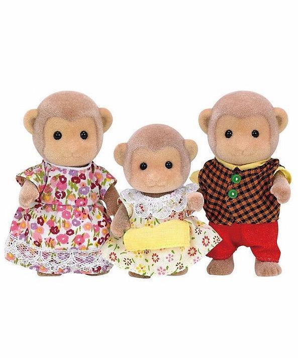Sylvanian Families - Семья Обезьян, 3 фигурки