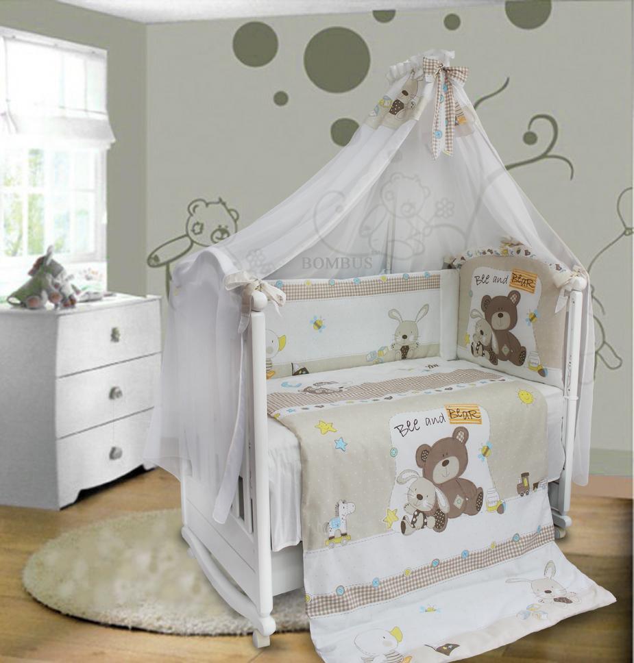Комплект в кроватку - Amico, 7 предметовДетское постельное белье<br>Комплект в кроватку - Amico, 7 предметов<br>