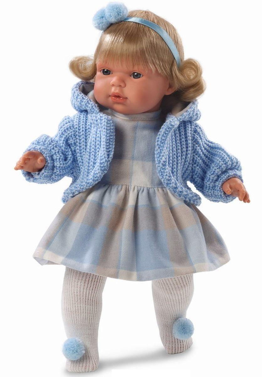 Кукла Шарлота в клетчатом платье 38 см., со звукомИспанские куклы Llorens Juan, S.L.<br>Кукла Шарлота в клетчатом платье 38 см., со звуком<br>