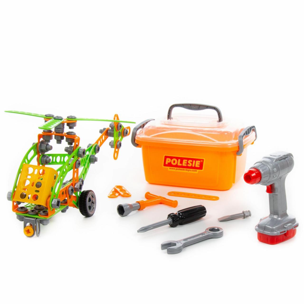 Купить Конструктор - Изобретатель - Вертолет №1, 130 элементов, в контейнере, Полесье