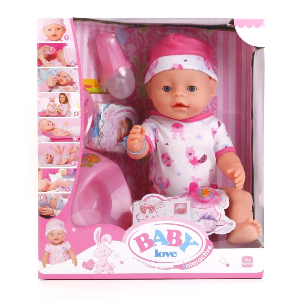 Купить Интерактивный пупс Baby Love, 43 см, пьет и писает, с аксессуарами