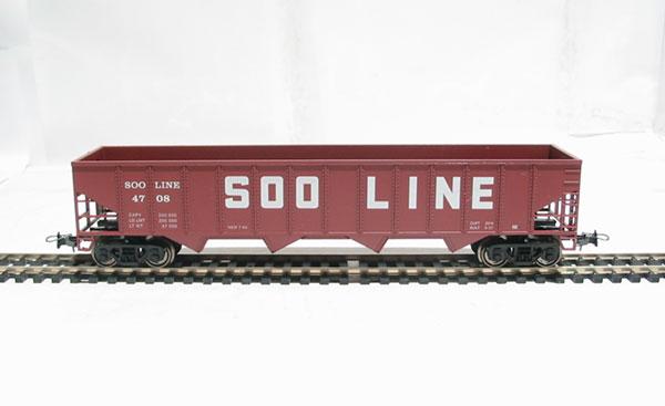 Саморазгружающийся бункерный грузовой вагон Mehano Soo Line 50Детская железная дорога<br>Саморазгружающийся бункерный грузовой вагон Mehano Soo Line 50<br>