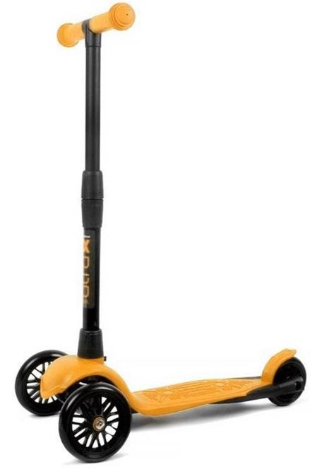 Самокат Альфа Model Buggy Boom со светящимися колесами, цвет оранжевый апельсин
