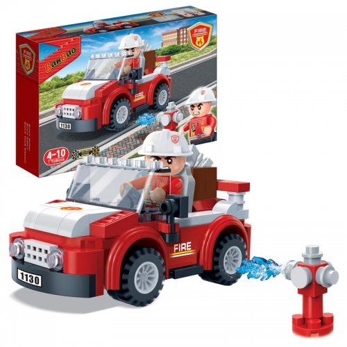Купить Конструктор - Пожарный внедорожник, 110 деталей, BanBao